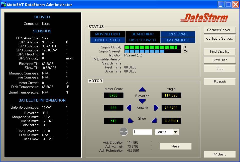 Datastorm Control Panel
